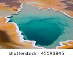 colorful geyser in yellowstone... | Shutterstock . vector #45593845