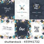 save the date cards  wedding... | Shutterstock . vector #455941732