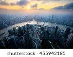 shanghai skyline city scape ... | Shutterstock . vector #455942185
