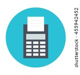 card terminal vector icon | Shutterstock .eps vector #455942452