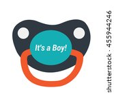 baby boy pacifier icon. baby... | Shutterstock .eps vector #455944246