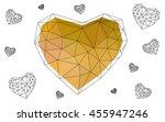 dark yellow heart isolated on...