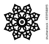monochrome contour mandala.... | Shutterstock .eps vector #455958895