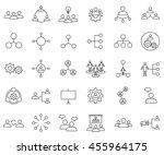 teamwork set outline icon... | Shutterstock .eps vector #455964175