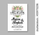wedding card or invitation with ... | Shutterstock .eps vector #455973238