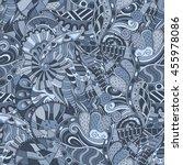 tracery seamless calming... | Shutterstock .eps vector #455978086