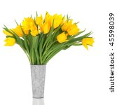 Yellow Tulip Flowers  In An...