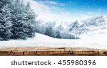 winter blue landscape of alps... | Shutterstock . vector #455980396