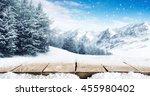 winter blue landscape of alps... | Shutterstock . vector #455980402