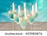 champagne glasses | Shutterstock . vector #455983876