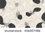 Stock vector artistic lotus flower petals on white background outline vector creative pattern eps modern 456007486