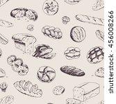 seamless patterns   bakery... | Shutterstock .eps vector #456008266