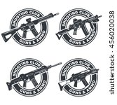 set of shooting club emblem ... | Shutterstock .eps vector #456020038