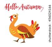 hello autumn card concept. an... | Shutterstock .eps vector #456024166