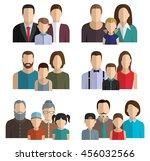 family avatar. flat style... | Shutterstock .eps vector #456032566