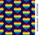 vector gay seamless pattern.... | Shutterstock .eps vector #456042166