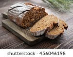 sliced rye bread on cutting... | Shutterstock . vector #456046198