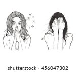 sad woman prays