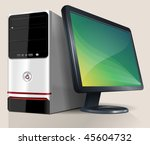 desktop computer. vector... | Shutterstock .eps vector #45604732