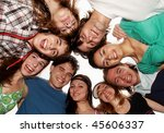 cheerful young people having... | Shutterstock . vector #45606337