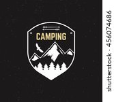 stamp for outdoor camp. tourism ... | Shutterstock .eps vector #456074686