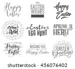 easter wishes overlays ... | Shutterstock . vector #456076402