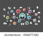 internet of everything. ioe.... | Shutterstock .eps vector #456077182