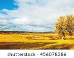 Autumn Sunny Landscape With...