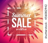summer sale background with... | Shutterstock .eps vector #456082942