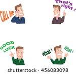 businessman or office worker... | Shutterstock .eps vector #456083098