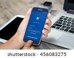 chiang mai thailand   july 21 ...   Shutterstock . vector #456083275