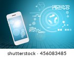 smart phone and technology... | Shutterstock . vector #456083485