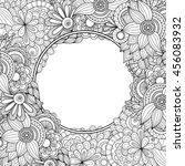 abstract hand drawn zentangle... | Shutterstock .eps vector #456083932