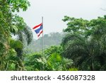 thai flag in the middle of the... | Shutterstock . vector #456087328