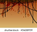 hanging chains with hooks ... | Shutterstock .eps vector #45608959
