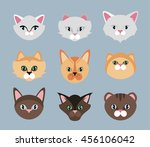 cats set | Shutterstock .eps vector #456106042