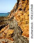 rock stone sky cloud beach ... | Shutterstock . vector #456114568