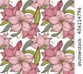 Seamless Pattern Vintage Lily...