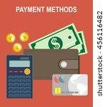 payment methods flat design... | Shutterstock .eps vector #456116482