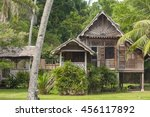 A Wooden Malay Village House O...