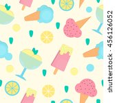 ice cream seamless pattern in... | Shutterstock .eps vector #456126052