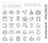 set vector line icons in flat... | Shutterstock .eps vector #456128122