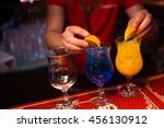 an alcoholic colored cocktails... | Shutterstock . vector #456130912