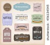 vintage labels ans signs... | Shutterstock .eps vector #456134545