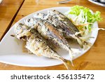deep fried mackerel  thai food | Shutterstock . vector #456135472
