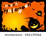 happy halloween | Shutterstock .eps vector #456139066