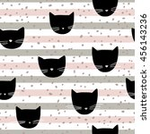 vector seamless pattern with... | Shutterstock .eps vector #456143236