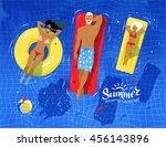 vector top view illustration of ... | Shutterstock .eps vector #456143896