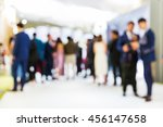 abstract blur people stand in...   Shutterstock . vector #456147658