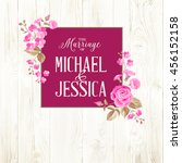 marriage invitation card with... | Shutterstock . vector #456152158